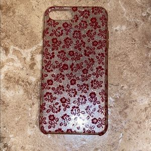Kate spade iPhone 8 Plus case sparkly